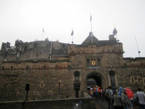 More often than not, this is the weather for Edinburgh Castle...